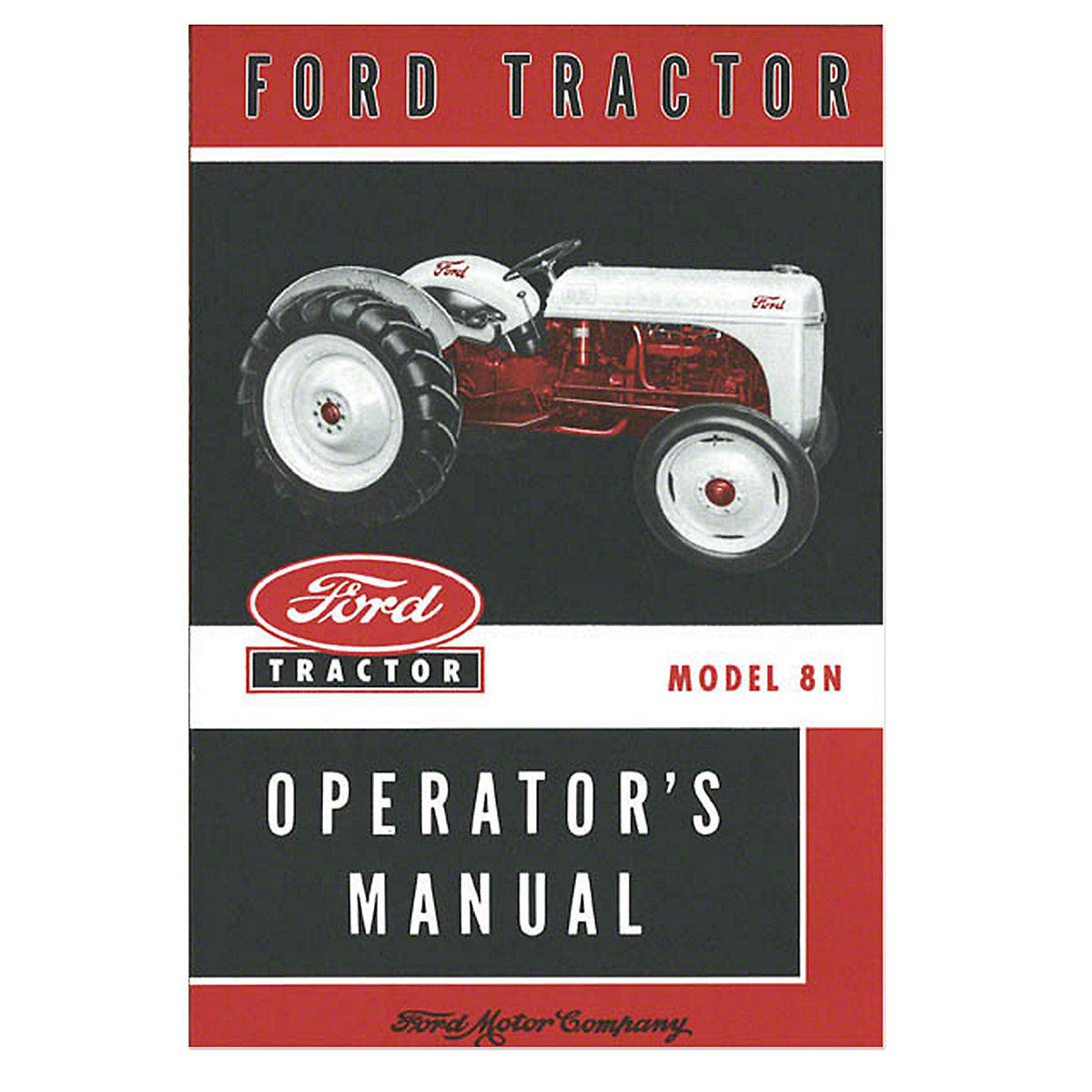 Restoration Quality Horizontal Muffler Fds3524 Ford Tractor Wiring Diagram On Starter For 8n Operators Manual Reprint