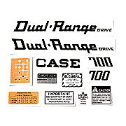DEC310 - Case 700 Dual Range: Mylar Decal Set