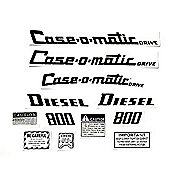 DEC311 - Case 800 Case-O-Matic Diesel: Mylar Decal Set