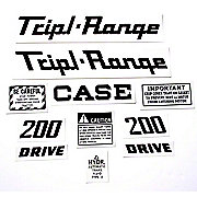 DEC339 - Case 200 Triple Range:  Mylar Decal Set