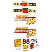 DEC349 - Oliver 88 Rowcrop Diesel: Mylar Decal Set