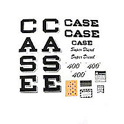 DEC380 - Case 400 Script Super Diesel: Mylar Decal Set