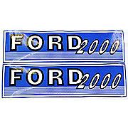 DEC429 - Ford 2000 Before 1965: Mylar Decal Hood Set