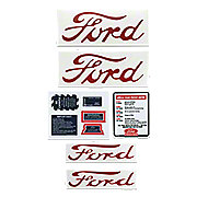 DEC442 - Ford NAA, Jubilee - 9 Piece Mylar Decal Set