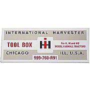 DEC448 - IH H, M: Tool Box Lid Decal