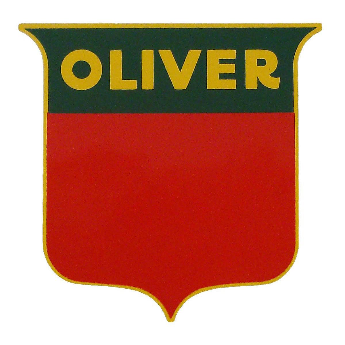 dec454 oliver shield decal rh steinertractor com oliver tractor logo history oliver tractor logo vector
