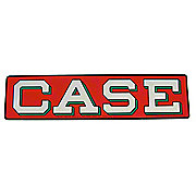 DEC462 - Case Decal -- Silver Letters On A Red Background