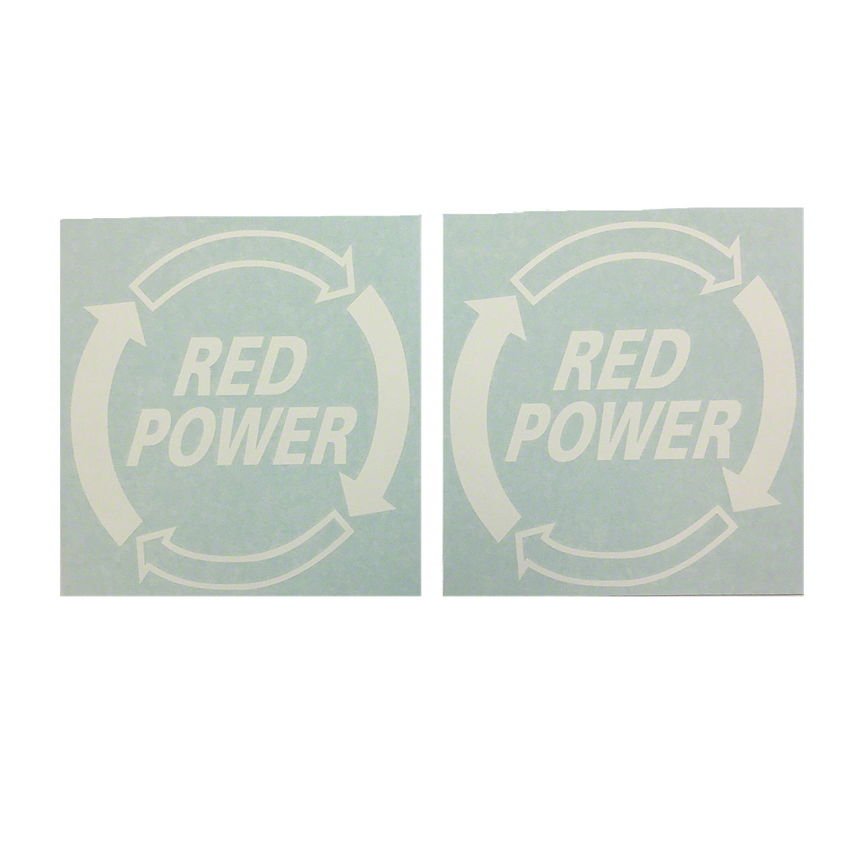 DEC468Red Power Decal (Set of 2)