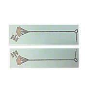 DEC469 - Branding Iron Decal (Set of 2)