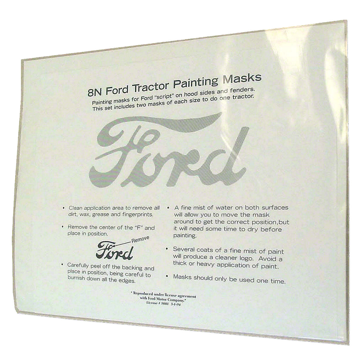 FDS174Ford Script Painting Mask Kit (For - Fenders And Hoods)