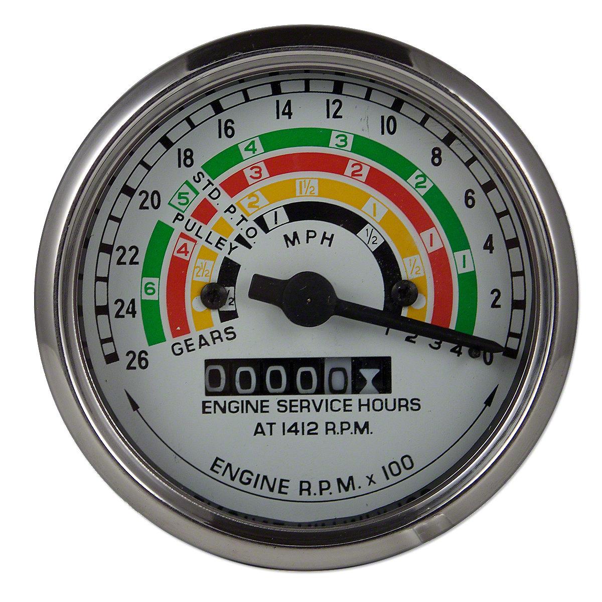 Tractor Hour Meter Gauges : Fds tachometer tractor meter