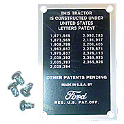 FDS338 - Patent Data Plate With Drive Screws
