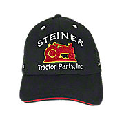 H11 - Steiner Tractor Parts, Inc. Black Mesh Baseball Cap