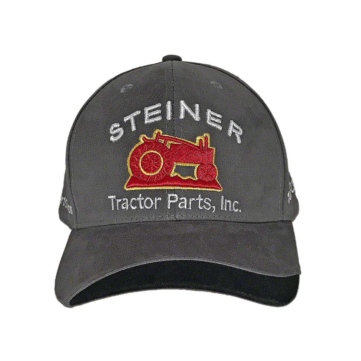 Grey Fabric Steiner Tractor Parts Hat Tractor Collector