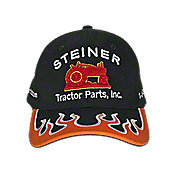 HO17 - Black Hat with Orange Flame
