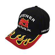 HR17 - Black Hat with Red Flame