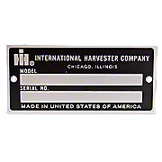 IHS1589 - Blank Serial Number Tag With Rivets
