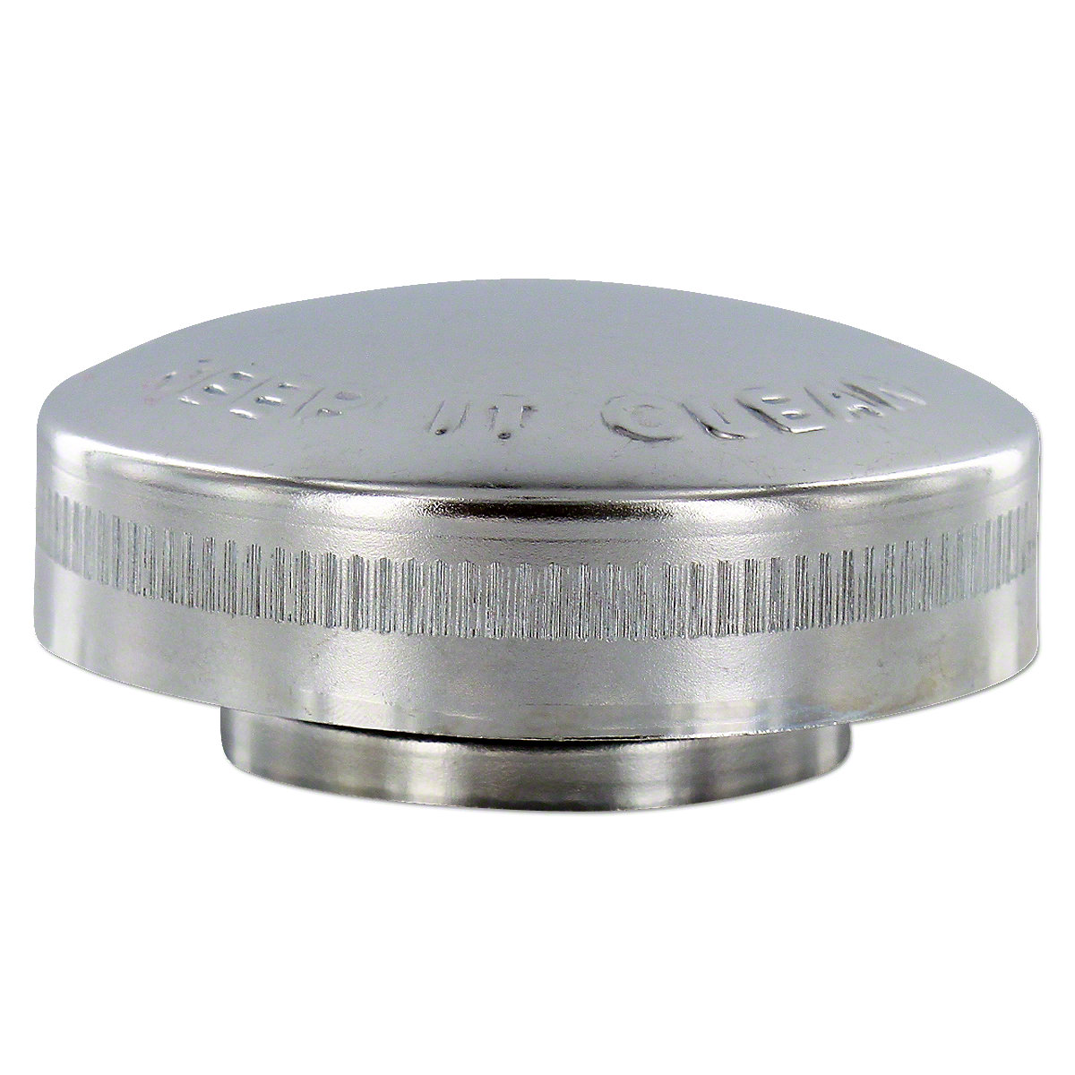 """IHS226Side Vented Fuel Cap with gasket and splash guard -- Fits many brands.  Says """"Buy Clean Fuel - Keep It Clean"""" Like Original!"""