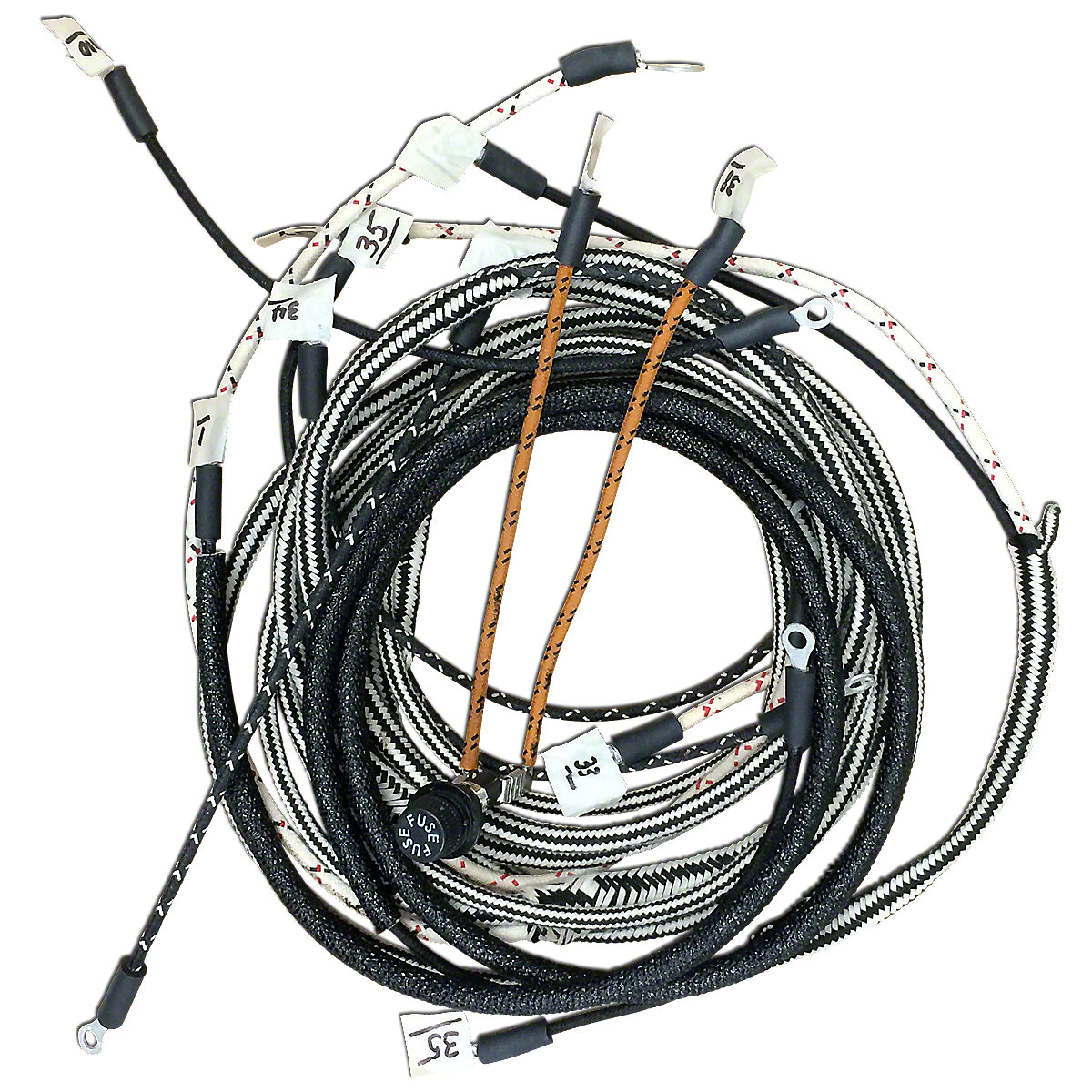 Eign17 4 Cyl Ih Distributorw Clips Farmall Super C Wiring Harness Kit For Tractors With 1 Wire Alternator