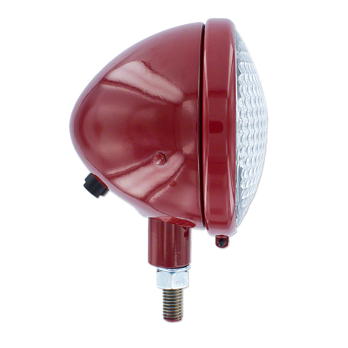 IHS351R12V Complete headlight assembly, red, 12V   ---   Fits many Farmall models