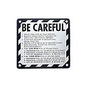 JDS314 - Be Careful Plate