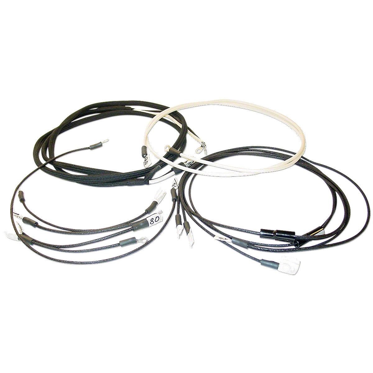 Restoration Quality Wiring Harness Jds3563 Semi Trailer Wire Kit For Tractors Using 3 Or 4 Terminal Voltage Regulator