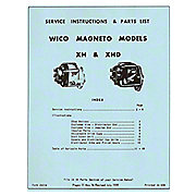 MAG6 - Wico XH And XHD Magneto Service - Instructions And Parts List (1959)