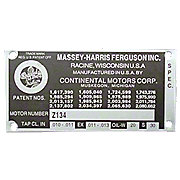 MFS170 - Blank Engine Serial Number Tag With 4 Rivets