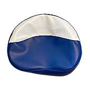 MIS006DB - Blue And White Tractor Seat Cushion