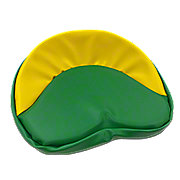 MIS006GY - Green & Yellow Tie On Seat Pad