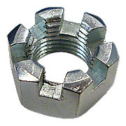 """MIS1123 - Slotted Hex Nut, 7/16"""""""