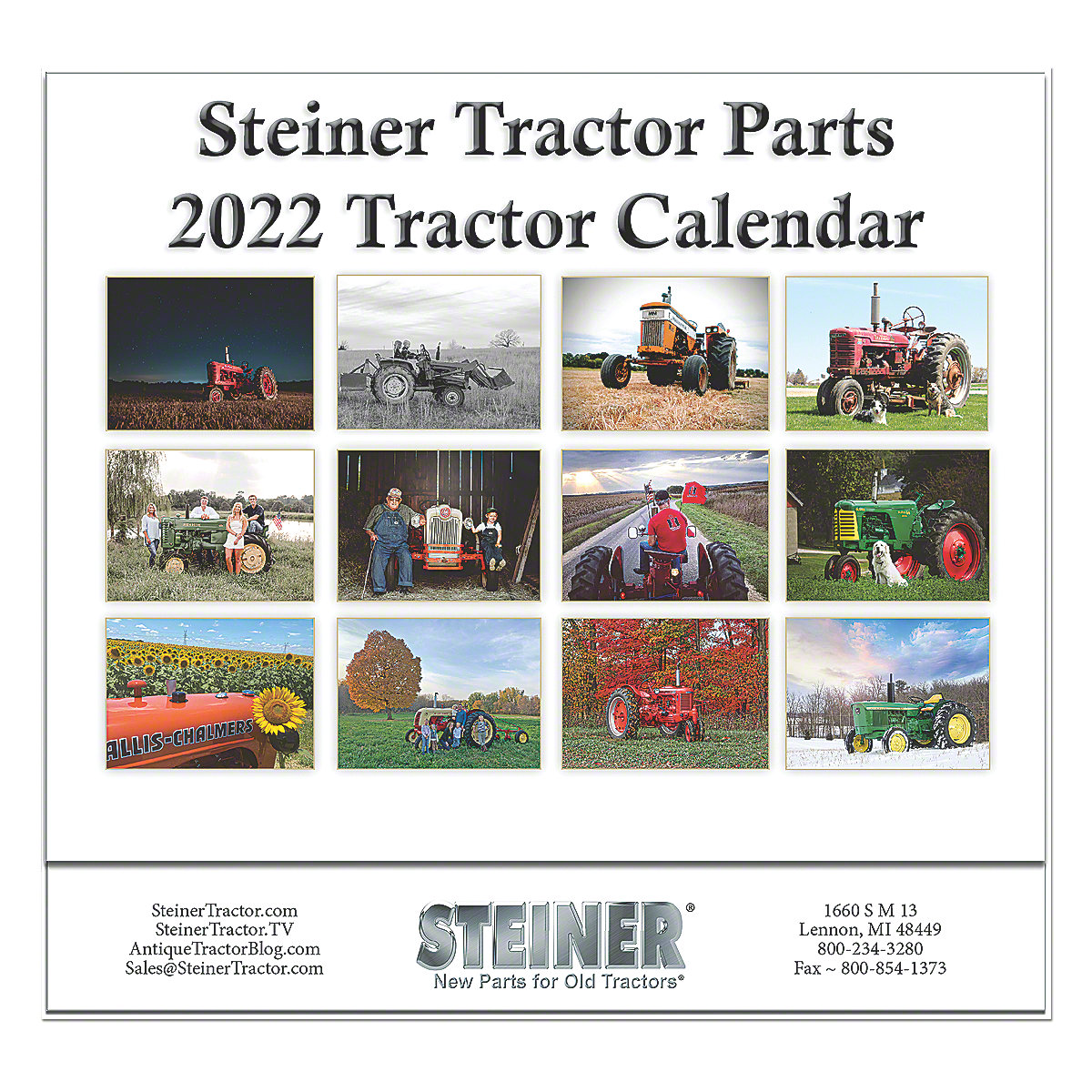 12 Month Tractor Calendar 2018 Steiner Parts Mis112 Antique Wiring Harness Large View