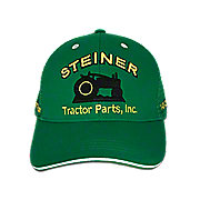 MIS122 - Green Mesh Cap With Yellow Embroidery, Steiner Tractor Parts, Inc. Baseball Cap