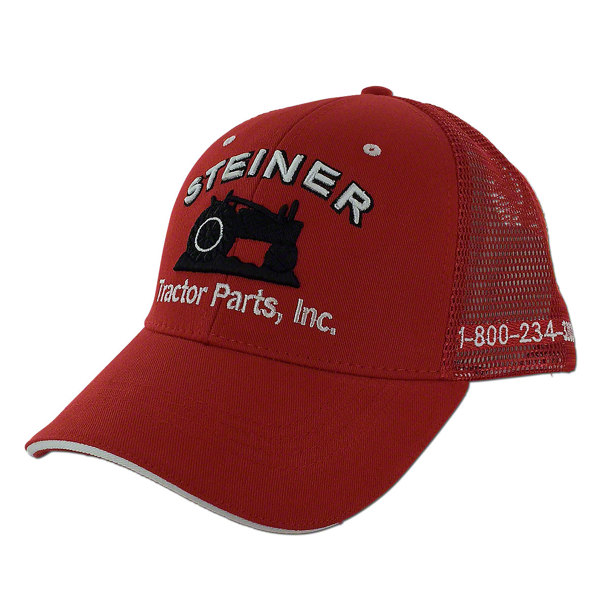 MIS126 Red Mesh Cap, Steiner Tractor Parts, Inc. Baseball Hat