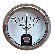MMS027RC - Restoration Quality Ammeter (Stainless Steel Bezel)