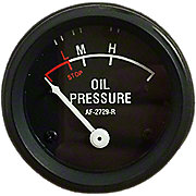 NJD1702 - Oil Pressure Gauge (0-55 PSI) - Dash mounted, Black Face