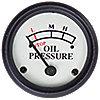 Engine mounted Oil Pressure Gauge (0-25 PSI) -  White Face NJD420