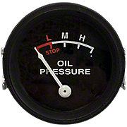 NJD423 - Oil Pressure Gauge (0-25 PSI) - Dash mounted, Black Face