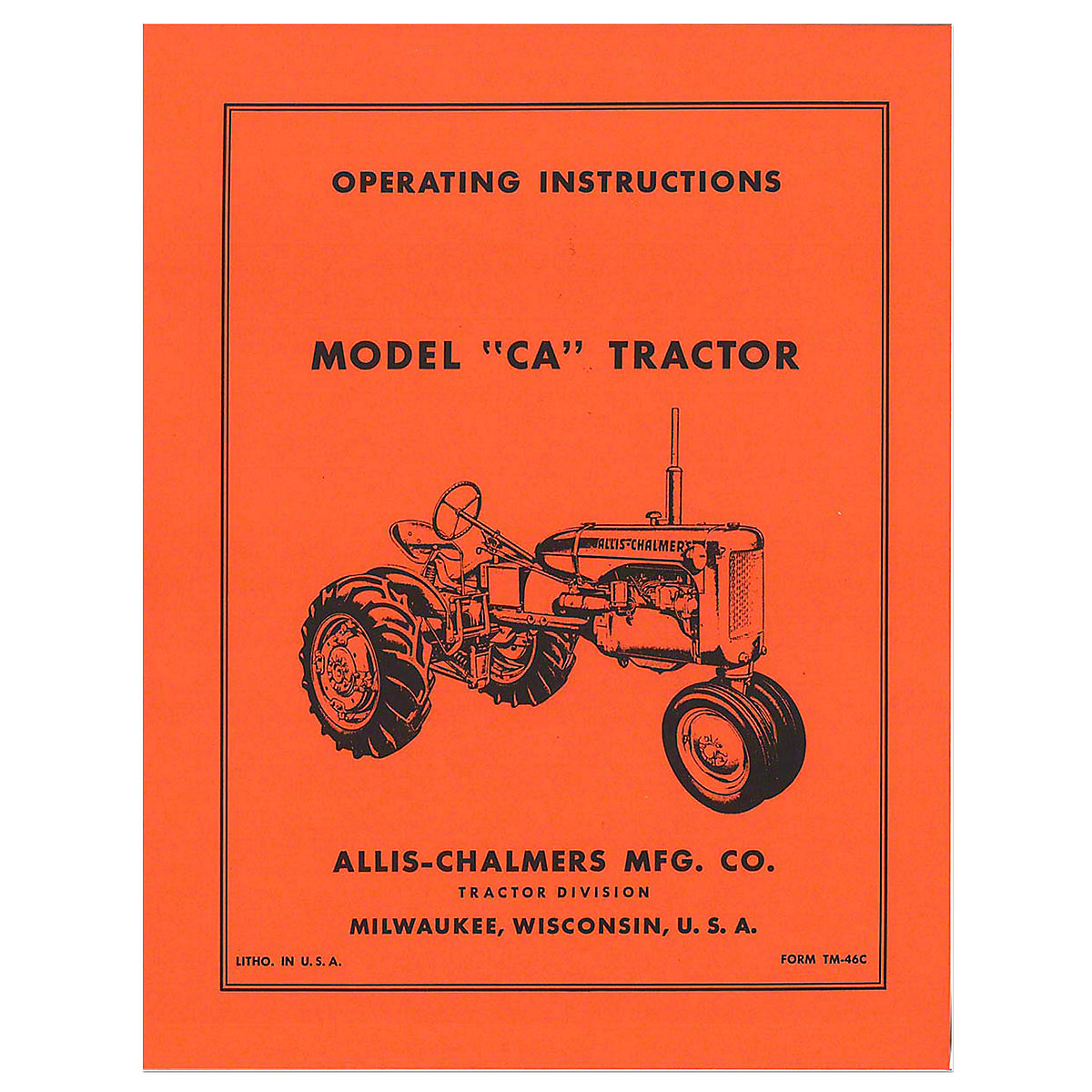 Operators Manual Reprint: AC CA