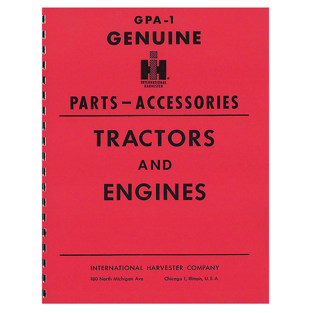"REP086 ""Genuine IH Parts Accessories"" Service Items & Accessories Manual"