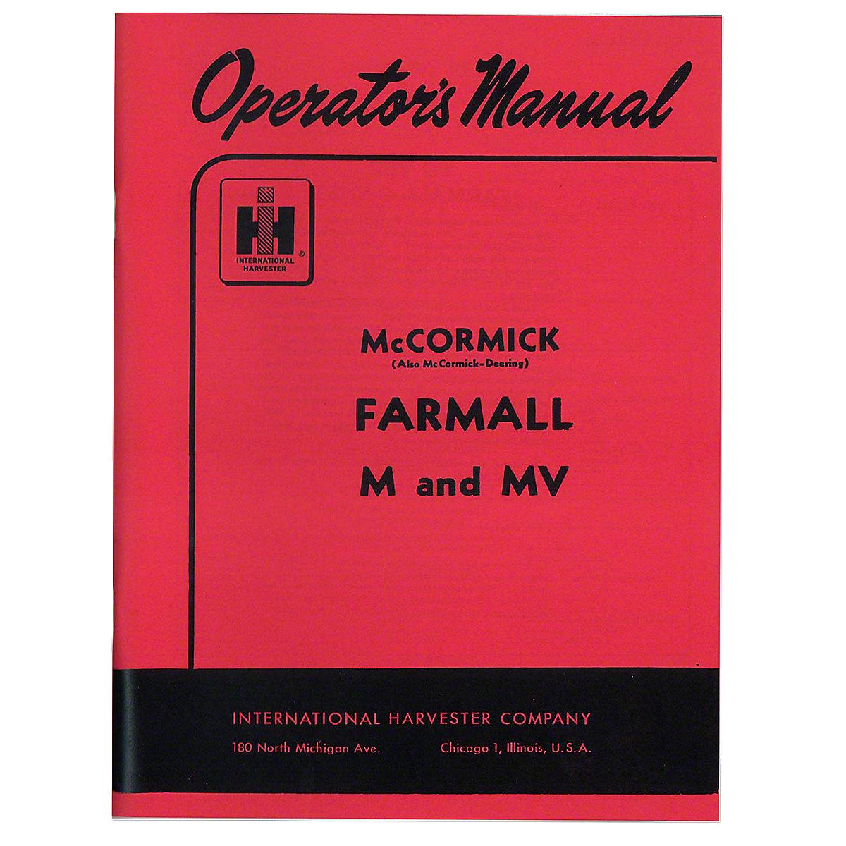 rep098 operators manual farmall m 19 rh steinertractor com farmall m operators manual pdf Farmall M Front Tires
