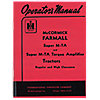 REP101 - OPERATORS MANUAL: FARMALL SUPE