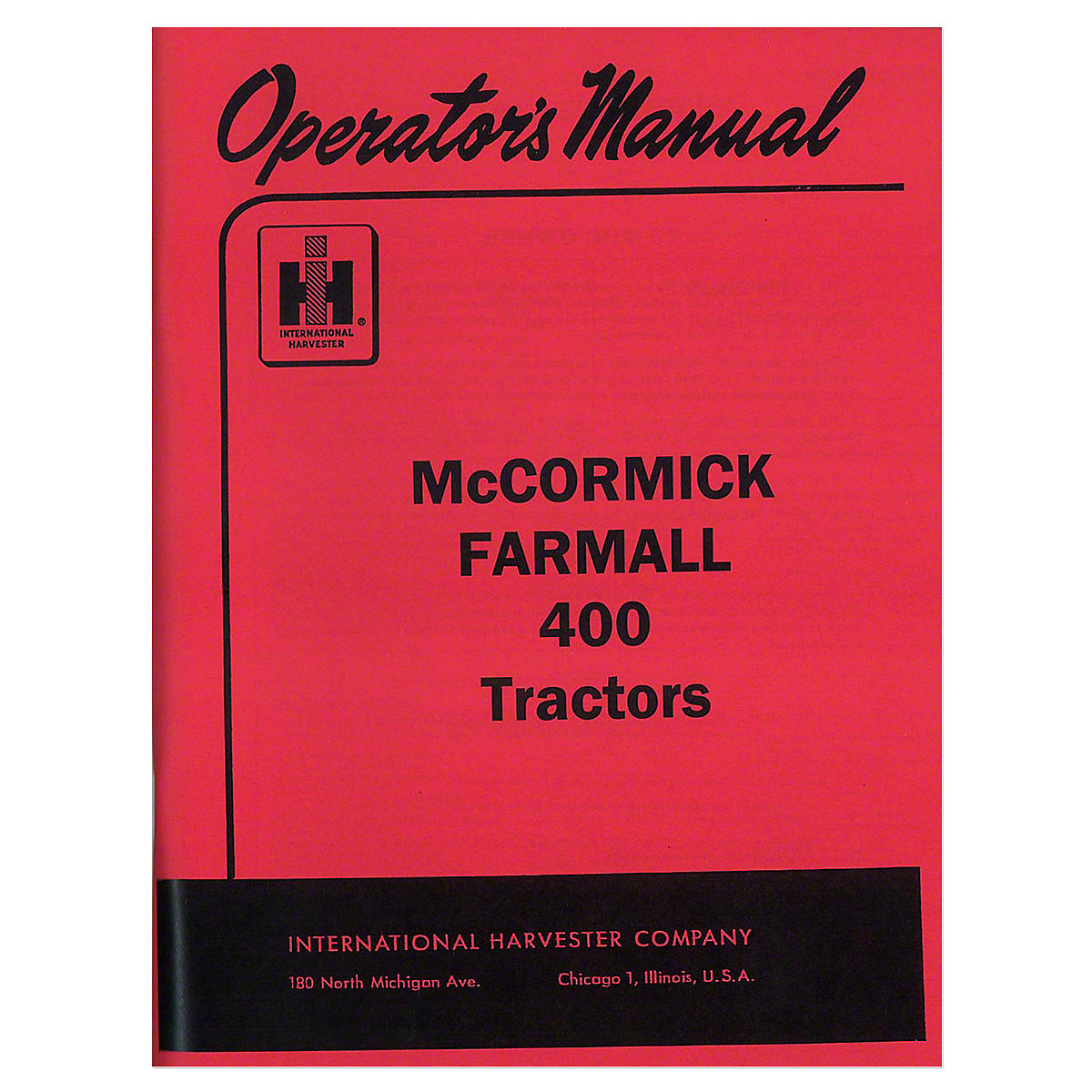 REP102 - OPERATORS MANUAL: FARMALL 400