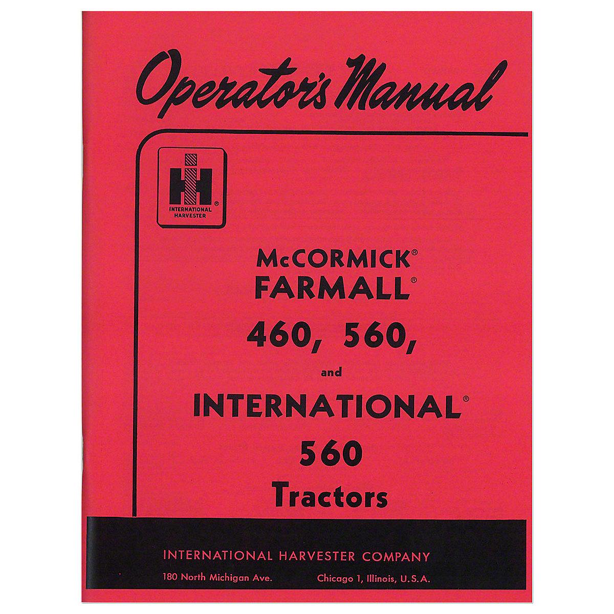 Operators Manual: Farmall 560 Gas