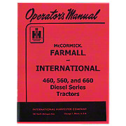 Operators Manual: IH 560 sel on