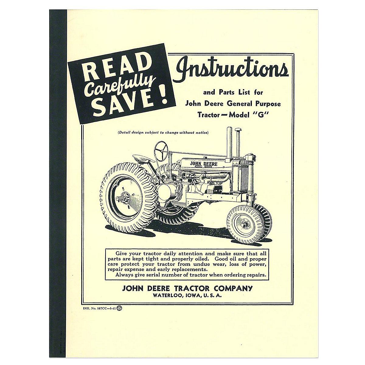 rep109 operating instruction manual rh steinertractor com john deere instructions manual 6515 john deere x125 user's manual