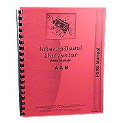 REP1742 - International Harvester Farmall A, AV, Super A Culti-Vision, B, BN Tractors, Parts Manual