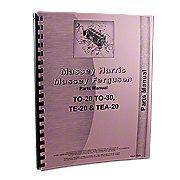 REP1747 - Massey Ferguson TO20 Parts Manual