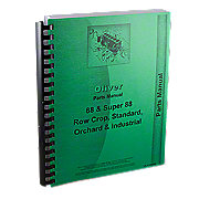 REP1755 - Oliver 88, Super 88, Gas & Diesel, Rowcrop, Standard, Industrial, Orchard, Parts Manual