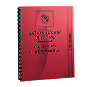 REP1808 - International 154, 184, 185 Cub Loboy Parts Manual Reprint